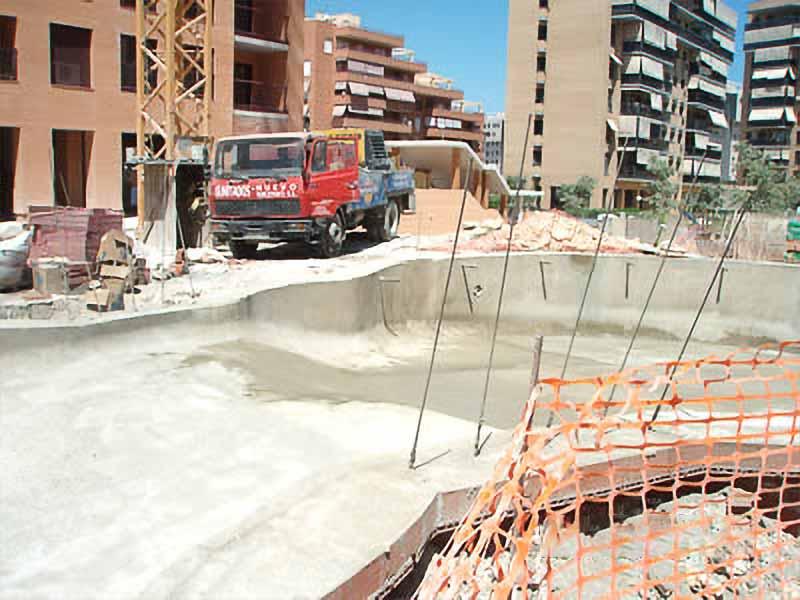 despues de gunitar se construiran las escaleras y puente