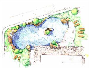 Planta de una piscina - Diseño